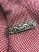 Alexander Ritchie Iona Design Sterling Silver Celtic Beasts Brooch